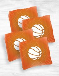 Corn hole bags White Basketball design