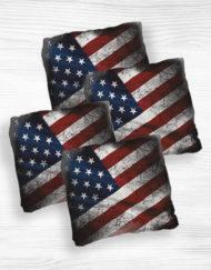 Corn hole bags US flags design