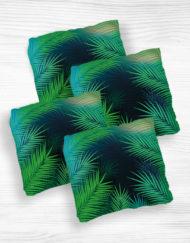 Corn hole bags palms design