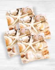 Corn hole bags shells design