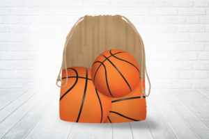 Corn hole bag tote basketball design