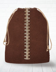 Corn hole bag tote football design
