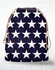 Corn hole bag tote stars design