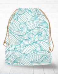 Corn hole bag tote wave design