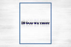 In God We Trust Sticker Text