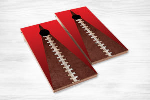 corn hole foot ball red